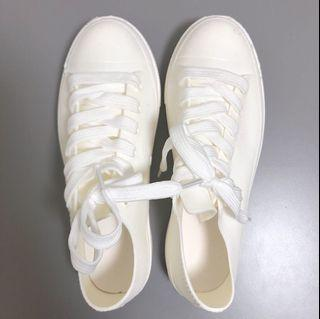 帆布鞋造型耐磨防滑低筒雨鞋#2020掰掰