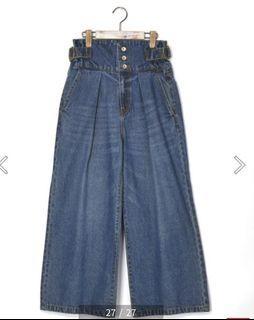 日本帶回 w closet有實品照高腰排扣寬褲  #剁手價