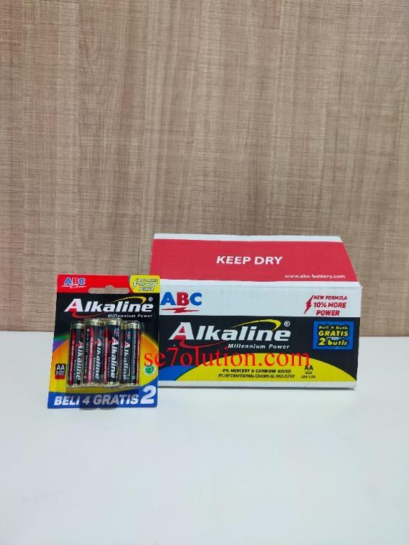 ABC Alkaline Baterai AA 4+2 (6 Buah)