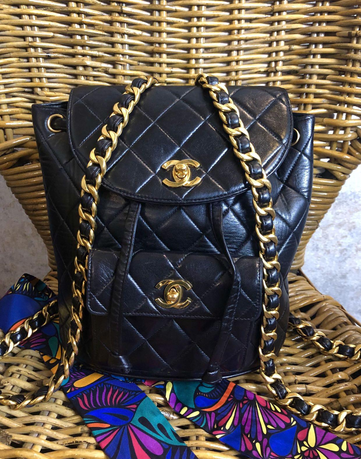 Authentic Chanel Vintage Backpack