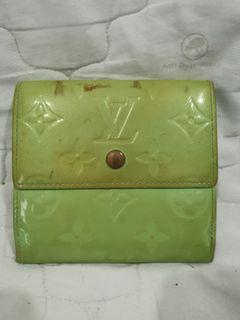 Authentic LV Elise Monogram Lime Green Vernis Wallet.