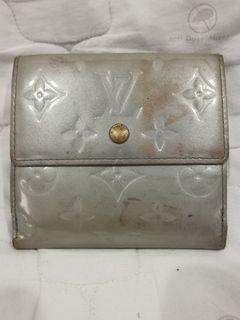 Authentic LV Elise Monogram Vernis Wallet Lavender Blue.
