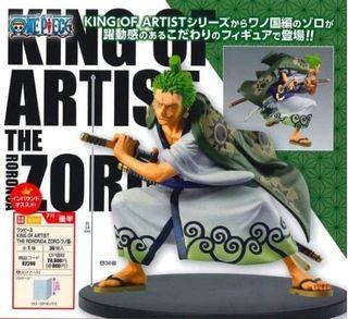 BANPRESTO ONE PIECE Roronoa Zoro WANO COUNTRY KING OF ARTIST 14 cm figure
