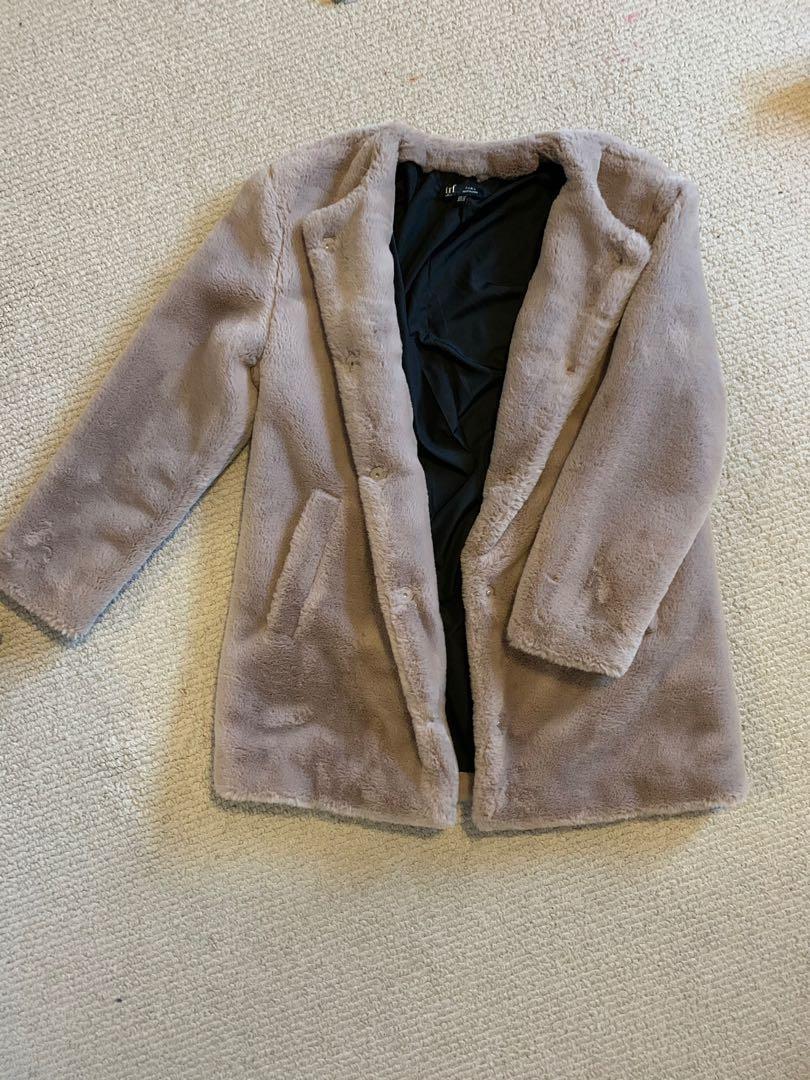 Faux Fur Teddy Coat    Zara