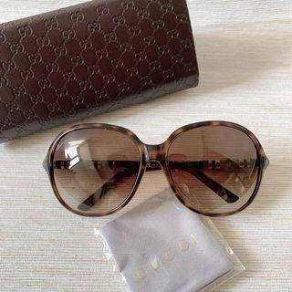 GUCCI 古馳 亞洲版 竹節設計玳瑁太陽眼鏡 GG3210/K/S