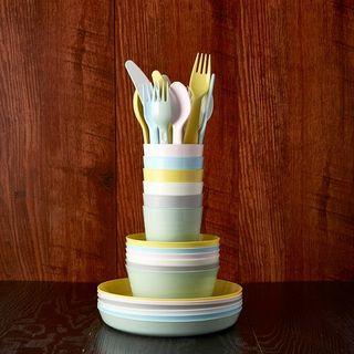 KALAS Peralatan makan piring, mangkuk, gelas, sendok dan garpu Murah