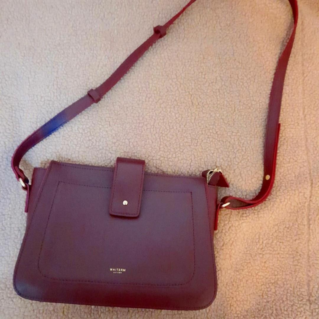Maroon colour cross bag