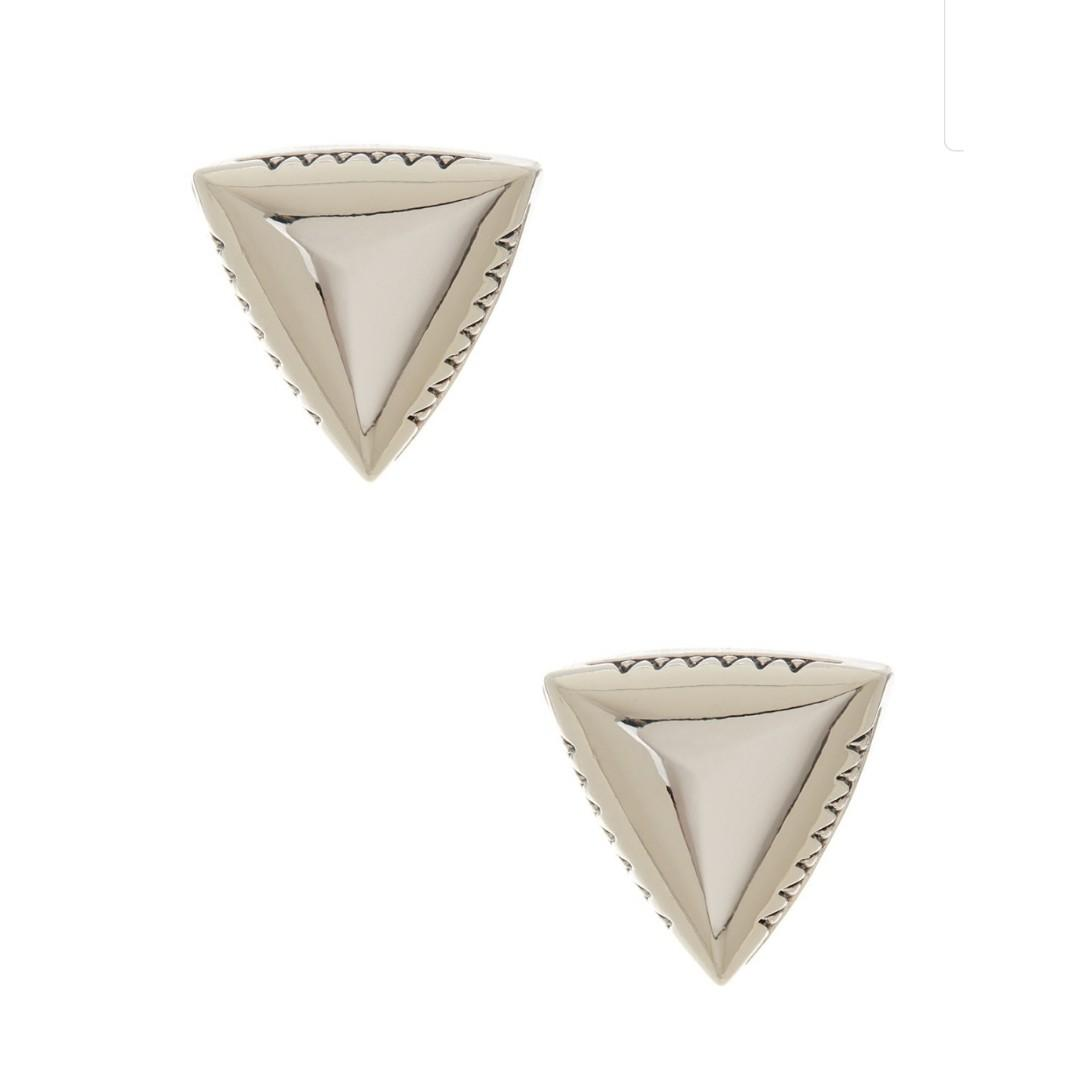 NEW House of Harlow 1960 Faceted Pyramid Stud Earrings Rare