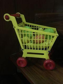 Push cart with fruits - bulk rare classic toy - Preloved