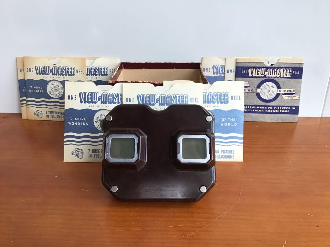 Vintage View Master with 11 Slides 7 More Wonders of the World