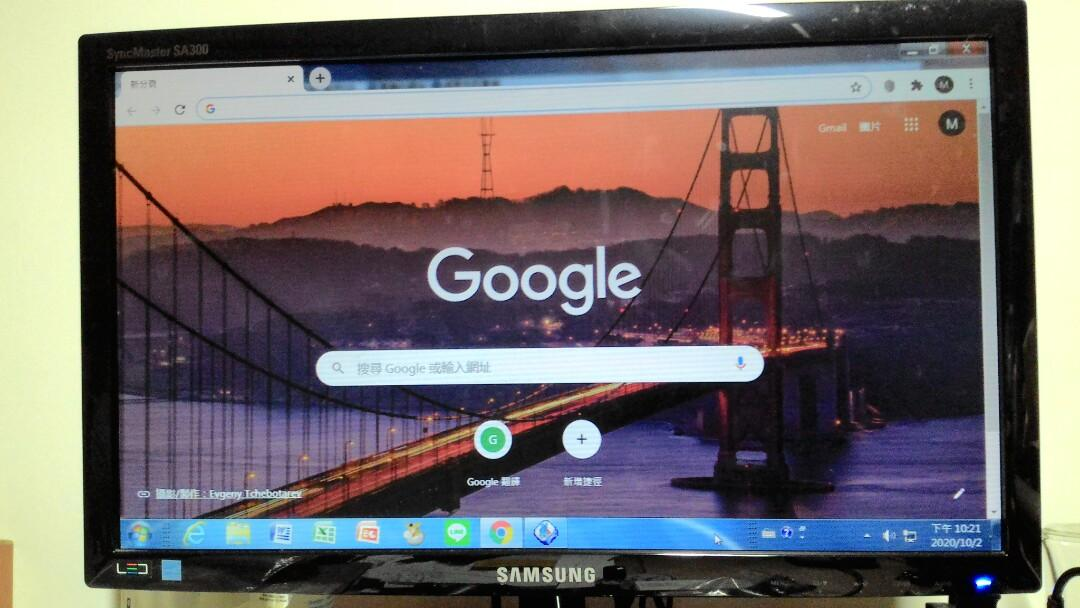 二手19吋Samsung液晶螢幕LCD monitor,正常使用中,台北市南港自取,可交換大賣場禮券