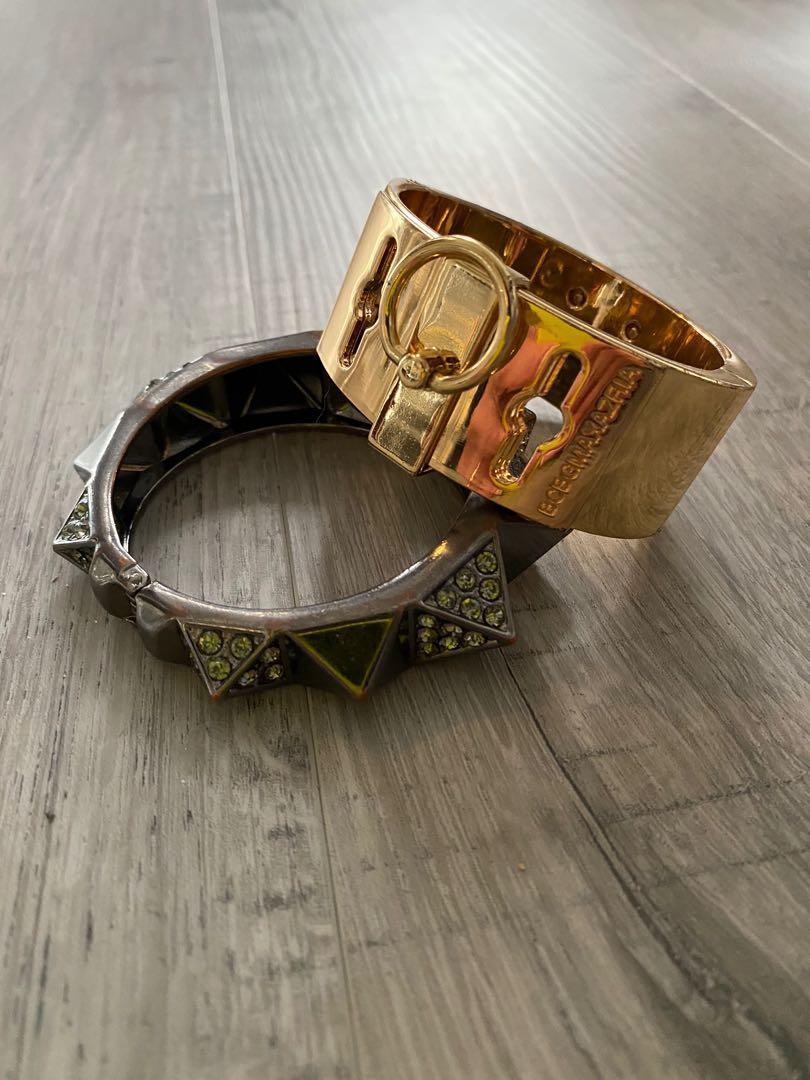 2 BCBG statement bracelets
