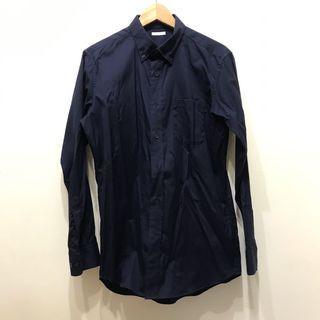 9.9成新L號GU深藍襯衫