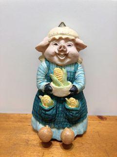 生活工場 玉米小豬媽媽雙掛鉤壁飾