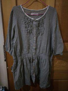 棉質 五分袖 上衣 洋裝