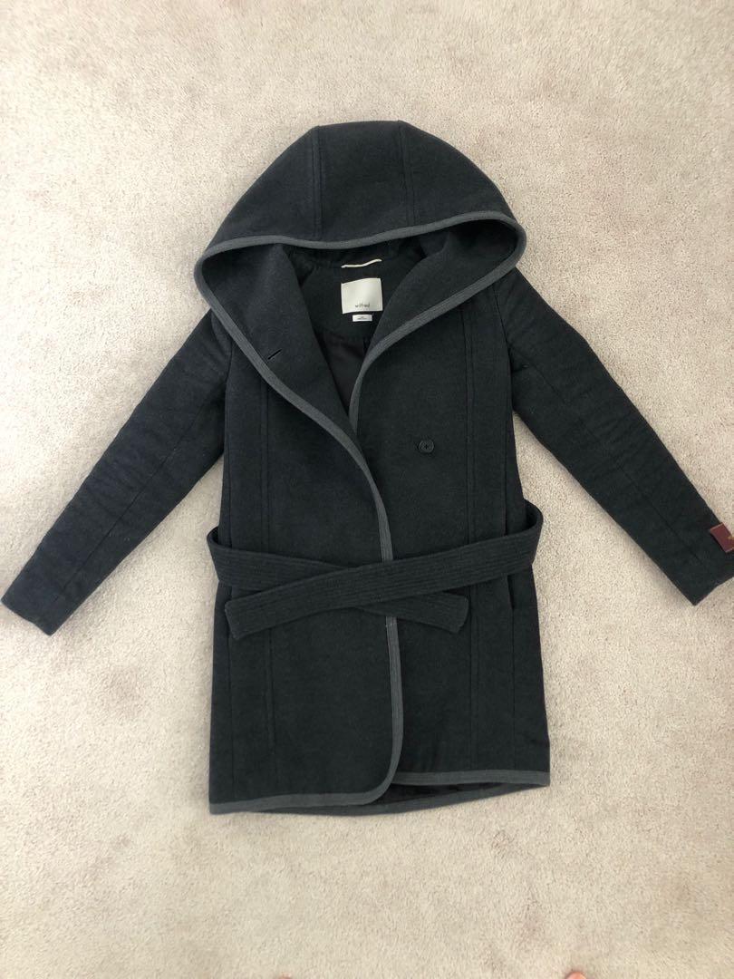 Aritzia - Wilfred grey Borda Coat (XXS)