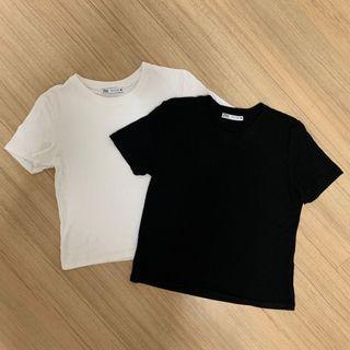 Black & White Basic Crop Top