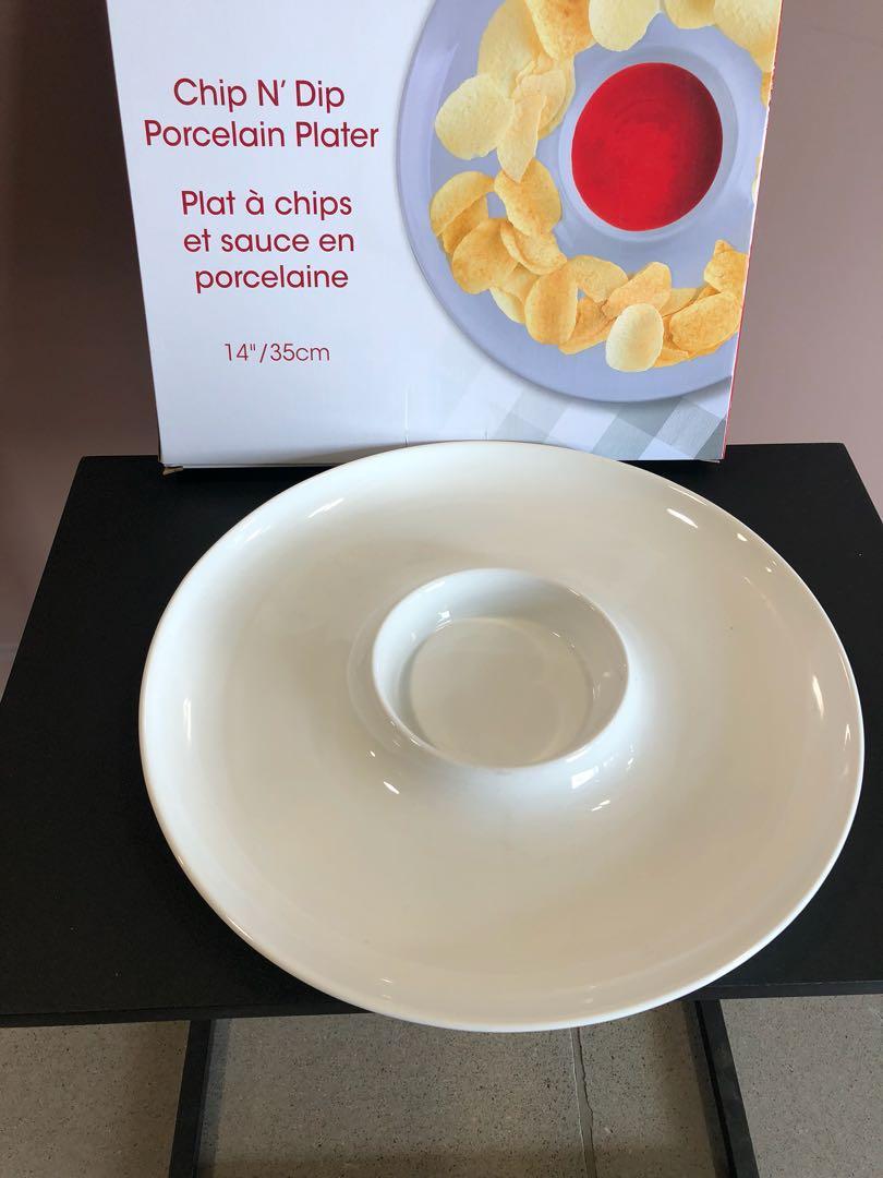 BRAND NEW: Chip N' Dip  Porcelain Plater