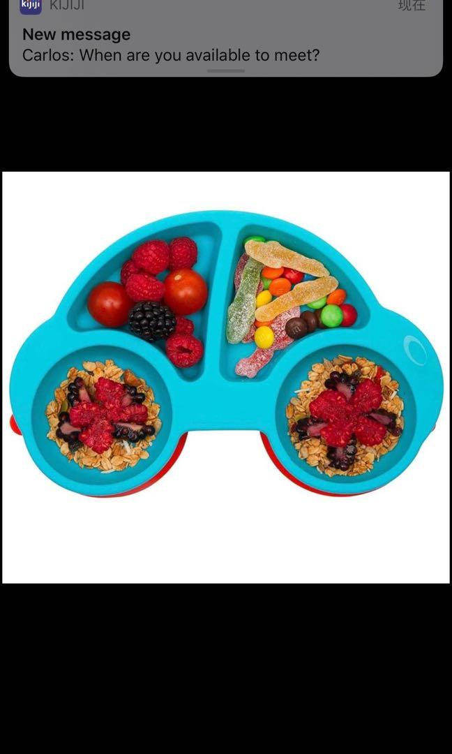 Brand new Toddler Plate, Portable Baby Plate for Toddlers and Kids, BPA-Free FDA Approved Strong Suc