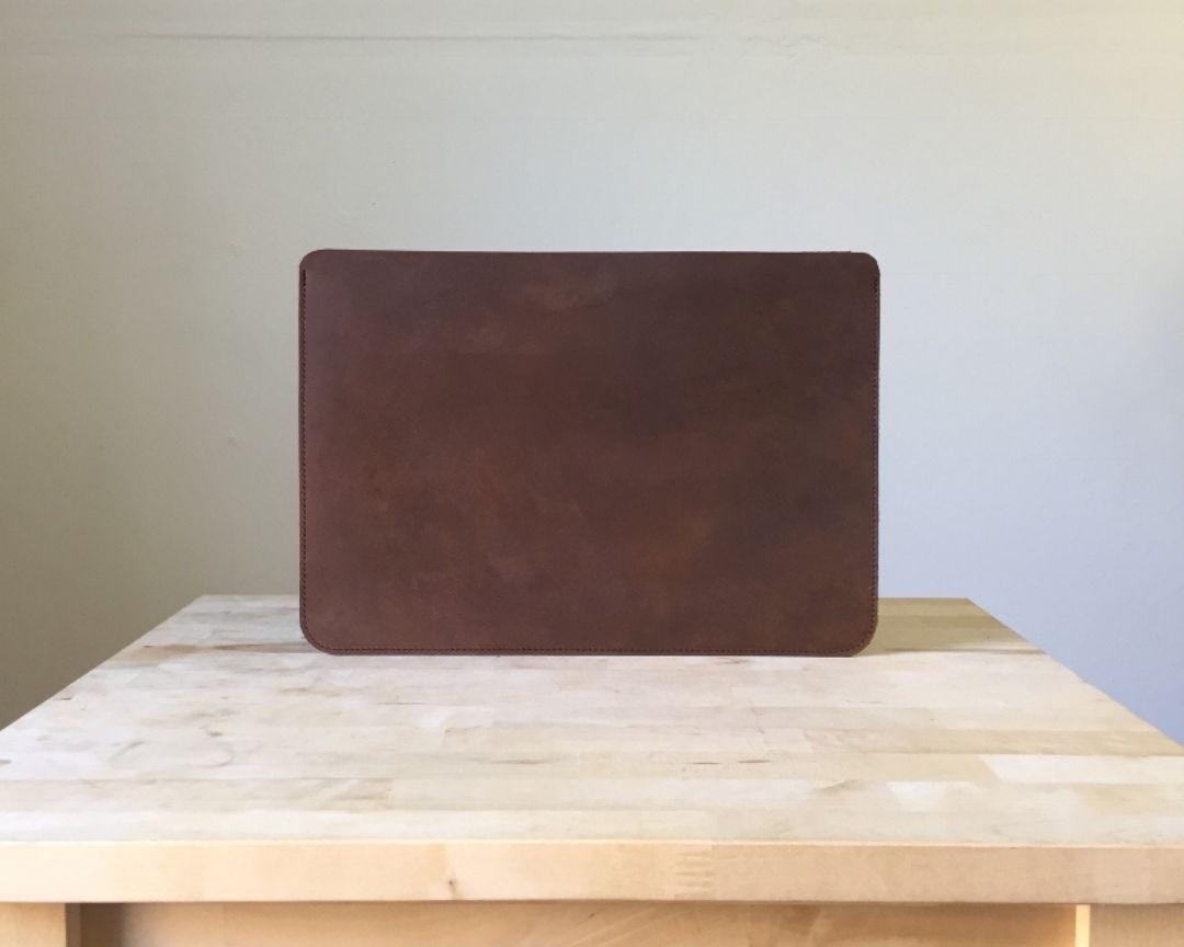 Brown Leather Sleeve Case Laptop
