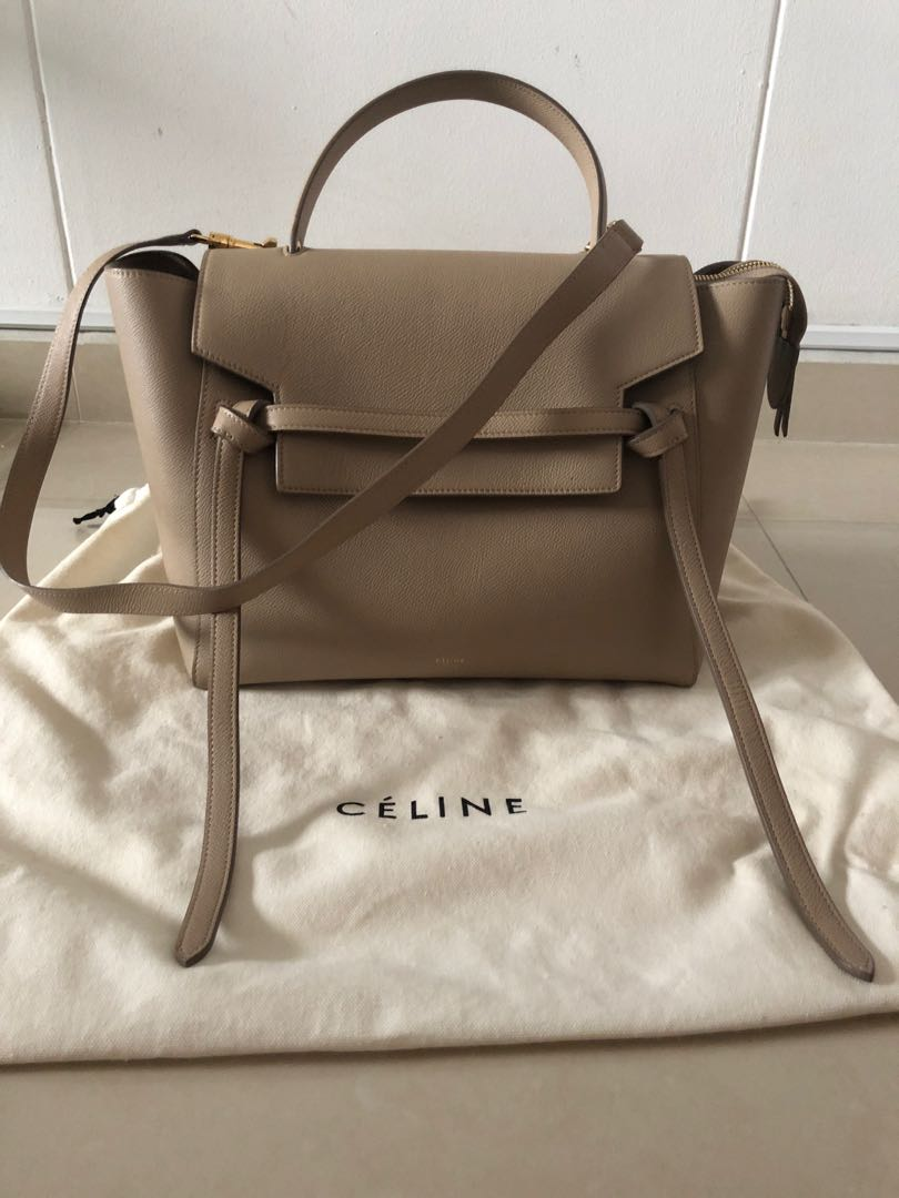 Celine Micro Belt Bag In Taupe Luxury Bags Wallets Handbags On Carousell