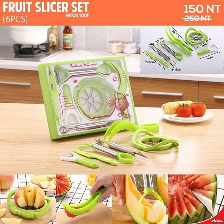 Fruit slicer set (6pcs)