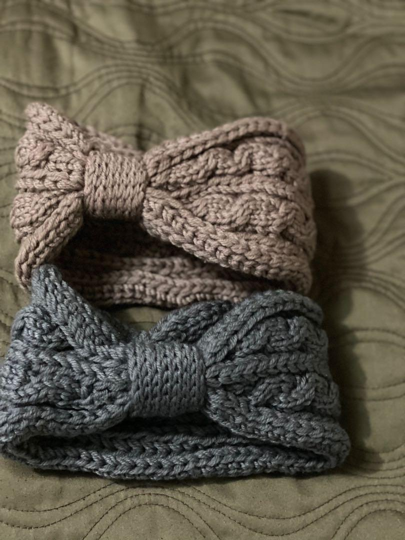 Headband knitted