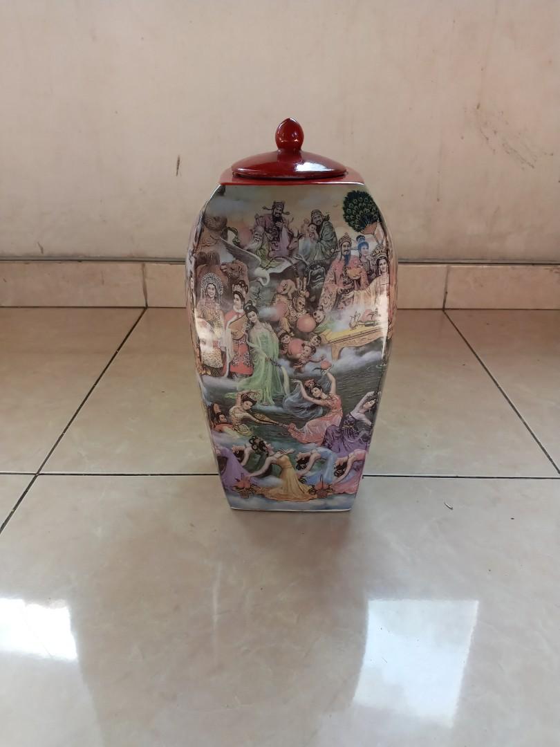 Keramik Antik Vas Kahyangan Dewa Dewi