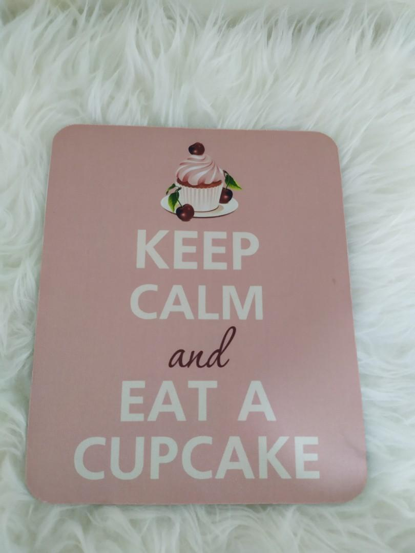#LemariRapi Mouse pad Keep Calm and Eat a Cupcake