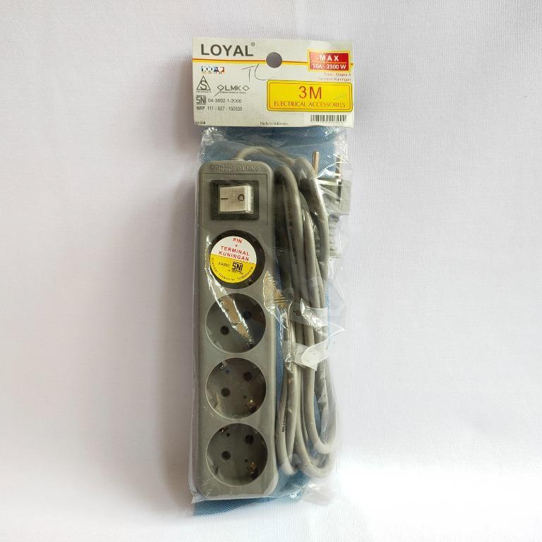 Loyal Kabel Stop kontak 4 lubang 3M- LY 208