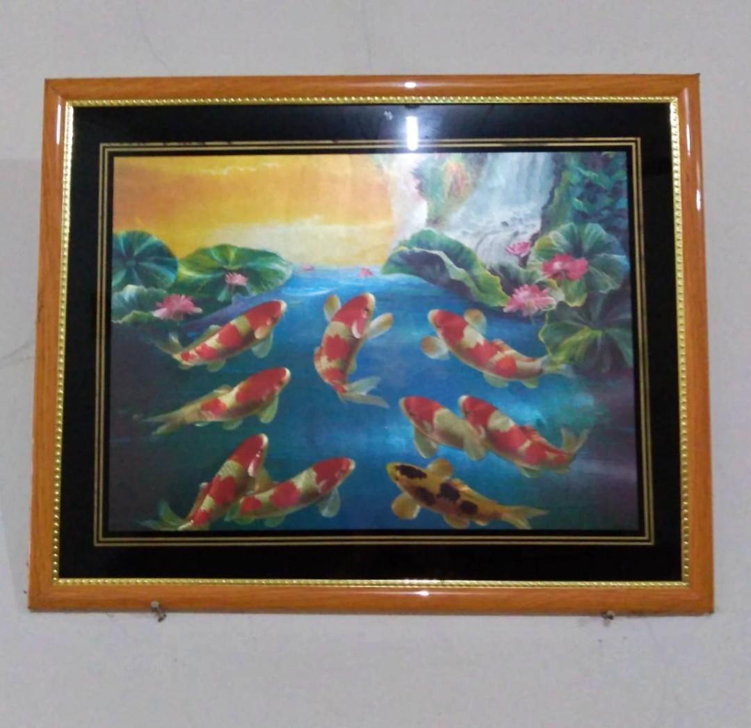 Lukisan Ikan Koi | Pajangan Dinding