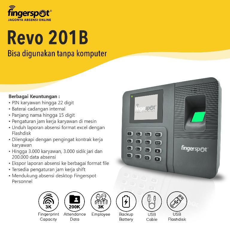 Mesin Absensi Fingerspot Revo 201B