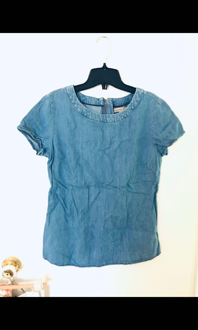 New chambray banana republic top