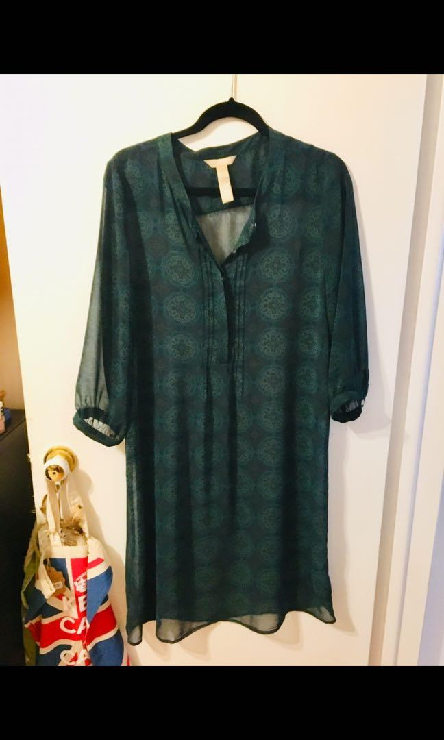 New chiffon tunic dress or bathing suit cover