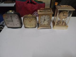 Old Vintage Antique Table Clocks