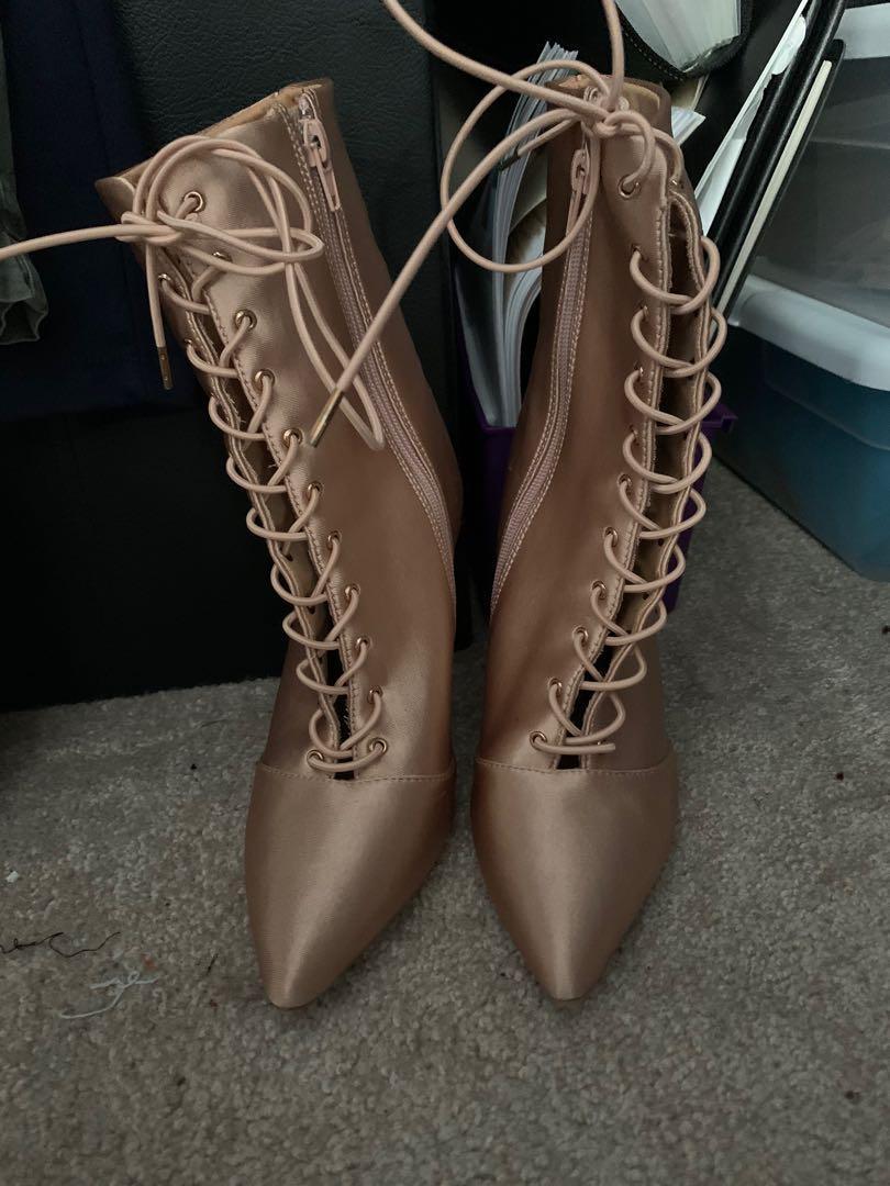 Rose gold colour heels