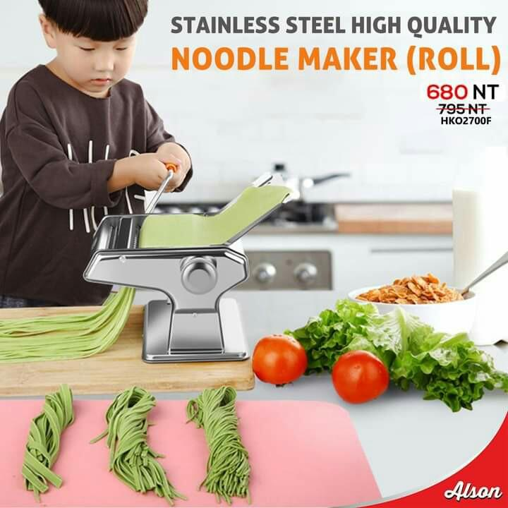 Stainless steel high quality noodle maker (roll)
