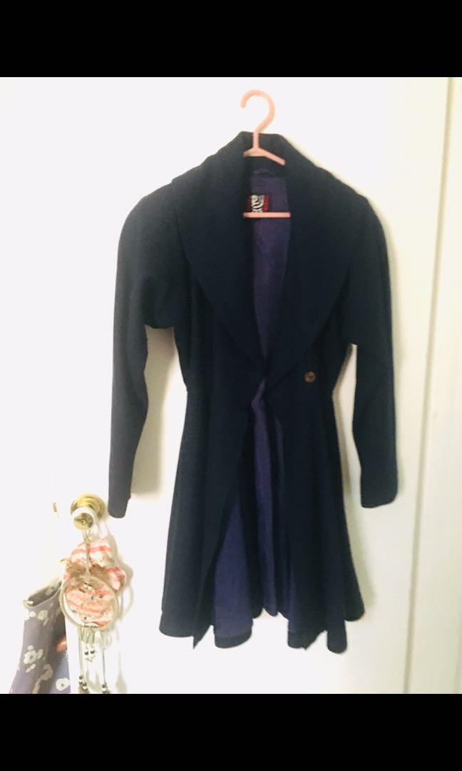Vintage wool trench jacket
