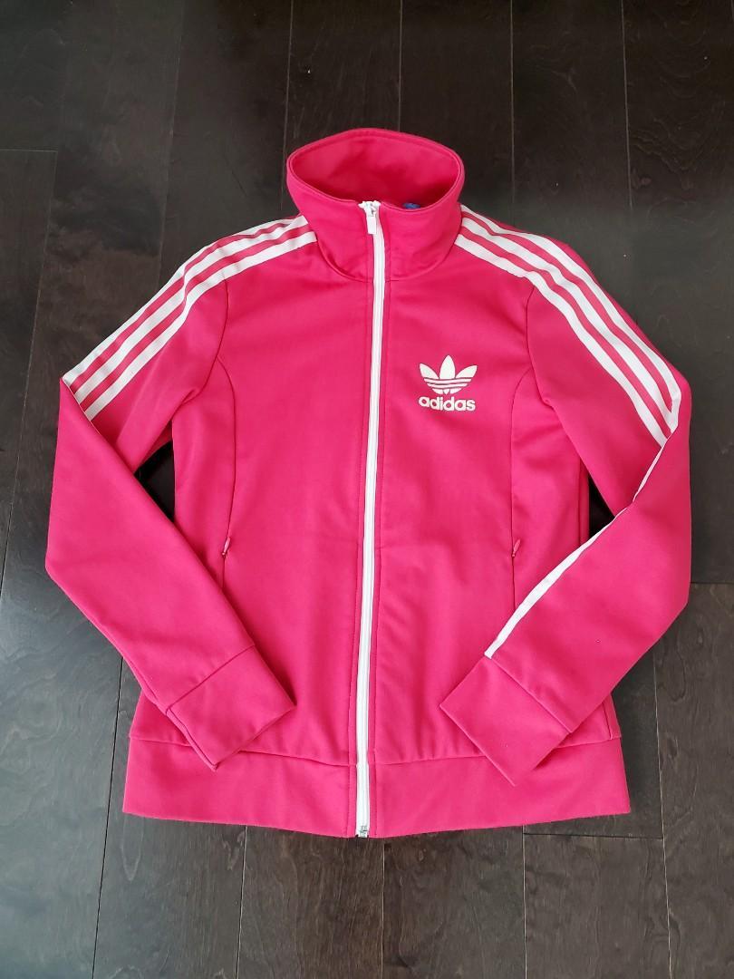 Women's Pink Adidas Firebird Track Jacket - Small