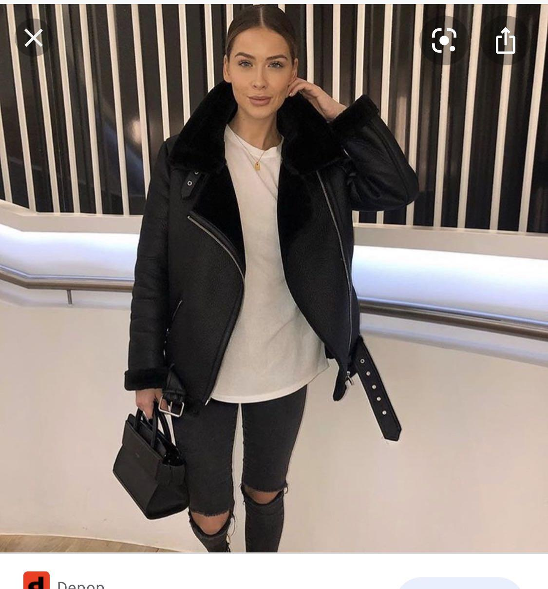 Zara Faux Shearling Jacket XS