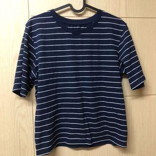 6ixty8ight 藍條紋短袖上衣