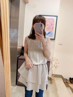 (二手) 🏷️ Chabibi• 韓國超美拼接蕾絲洋裝