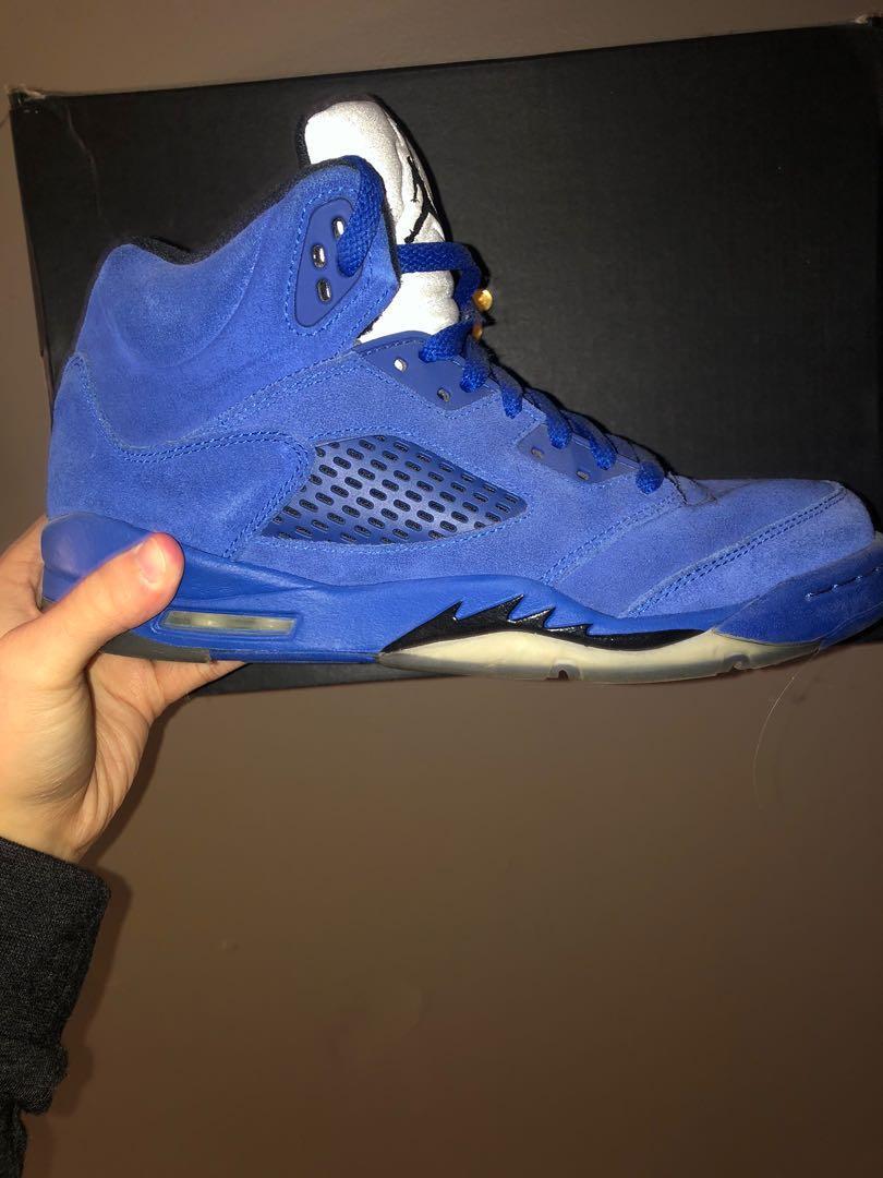 Air Jordan blue 5s