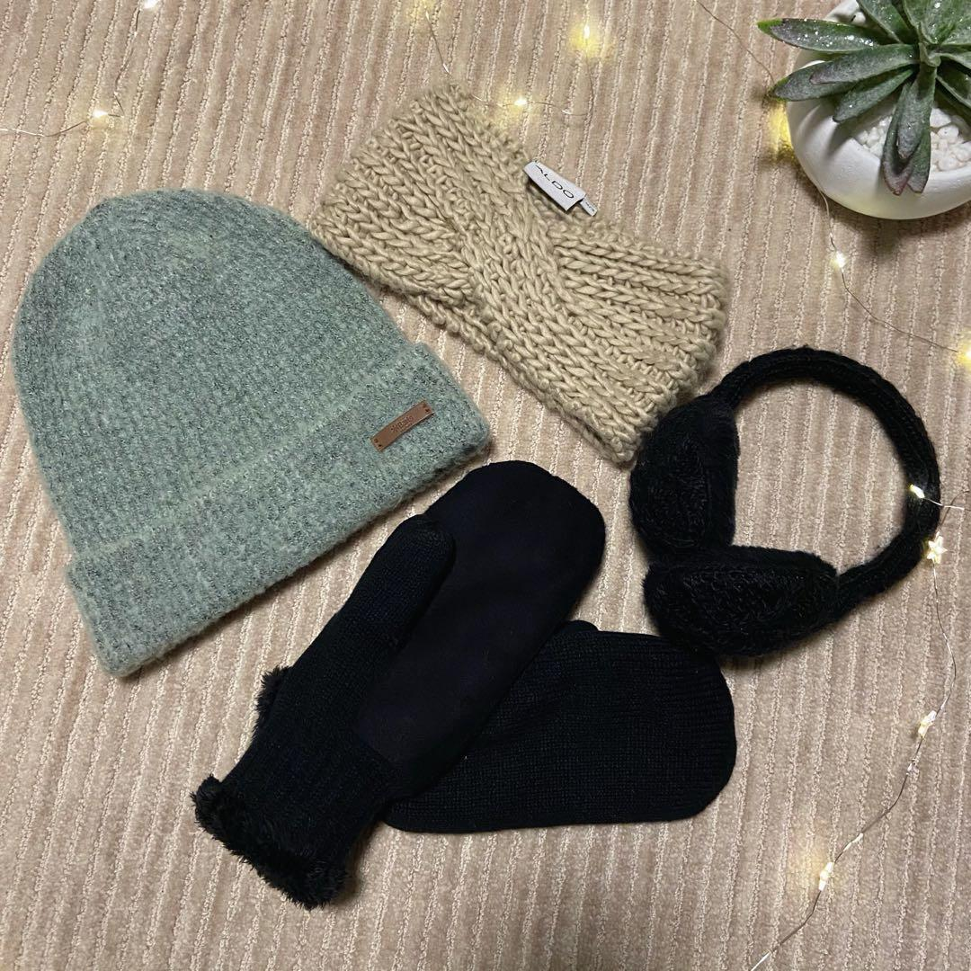 Aldo cold weather accessories hat, earmuffs, headband, mittens