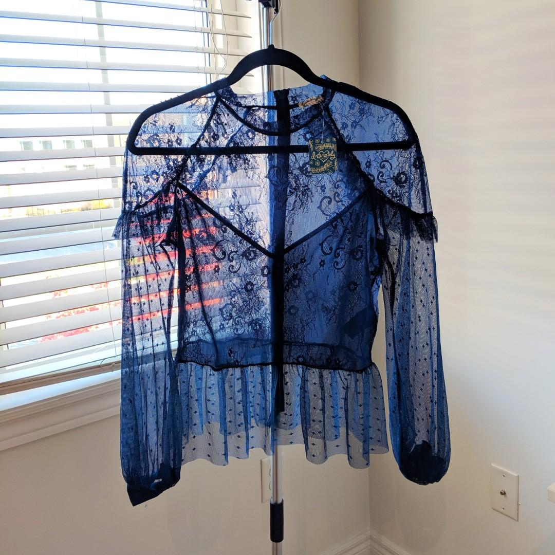 Bnwt Free People lace top
