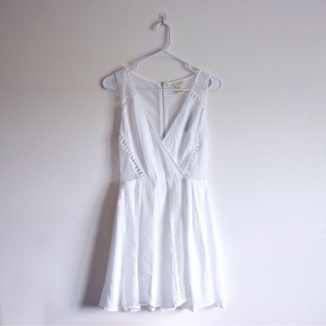 Forever 21 Mesh Fit & Flare Dress BNWT