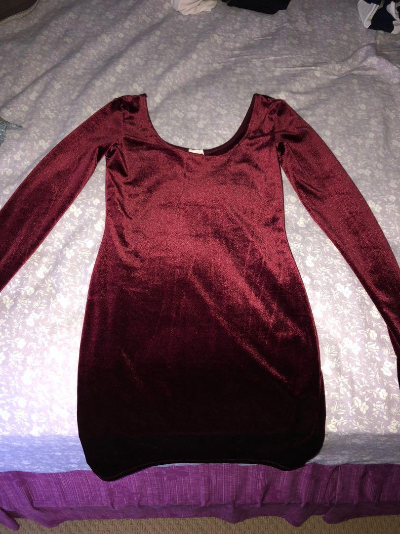 GARAGE red velvet dress