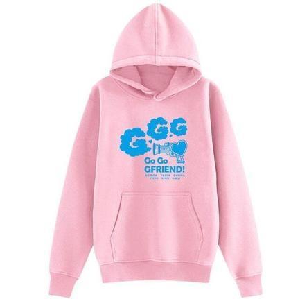 Gfriend concertame go go gfriend all member names pullover kpop unisex fleece/thin loose Sweatshirt tshirt
