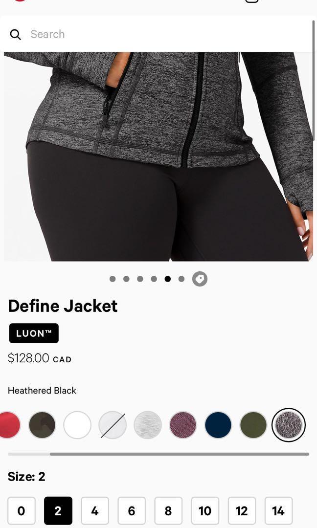 Lululemon Define Jacket (Size 2)