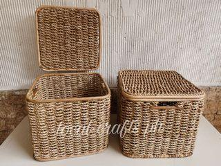 Rattan Organizer with Cover